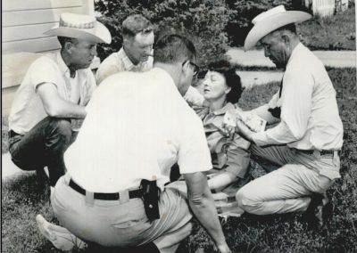 Former Sheriff Amos G Ward, Former Sheriff Buck Johnson and Deputy JB Hamby